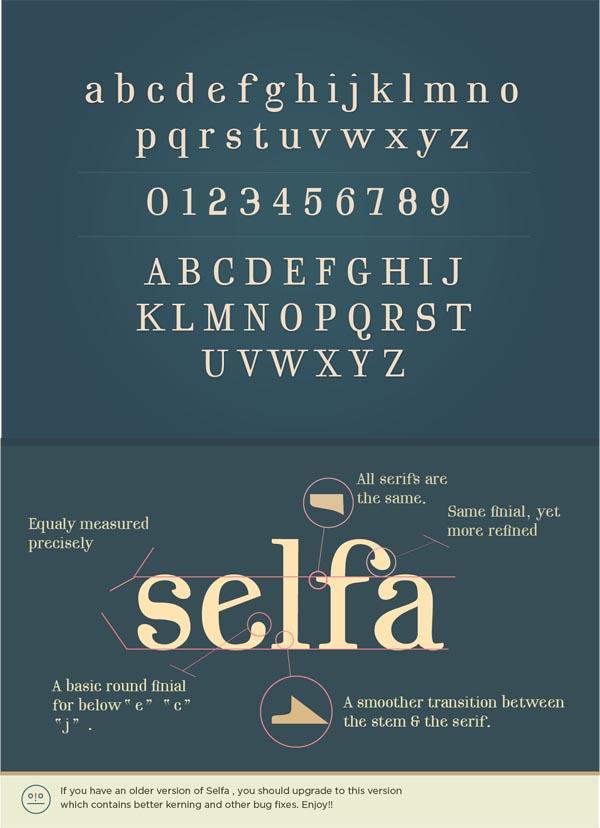 Selfa v2 - A Free Serif Font by Mazefall