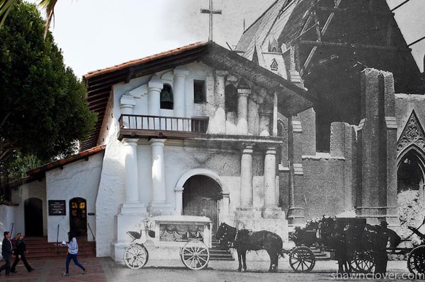 The Earthquake Blend - San Francisco 1906 and 2010 by Shawn Clover