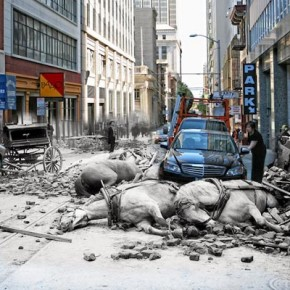 The Earthquake Blend - San Francisco 1906 + 2010 by Shawn Clover