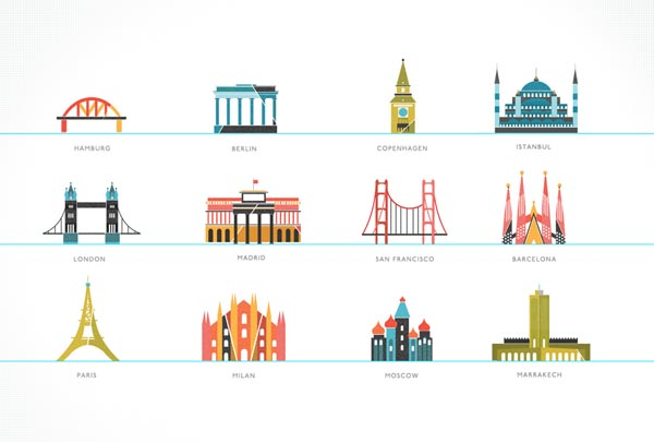 Illustrations of Buildings And
