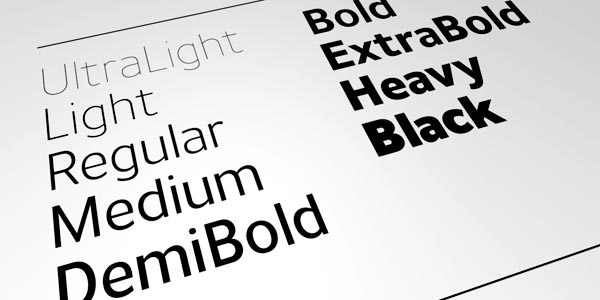 Uniman Typeface - Weights