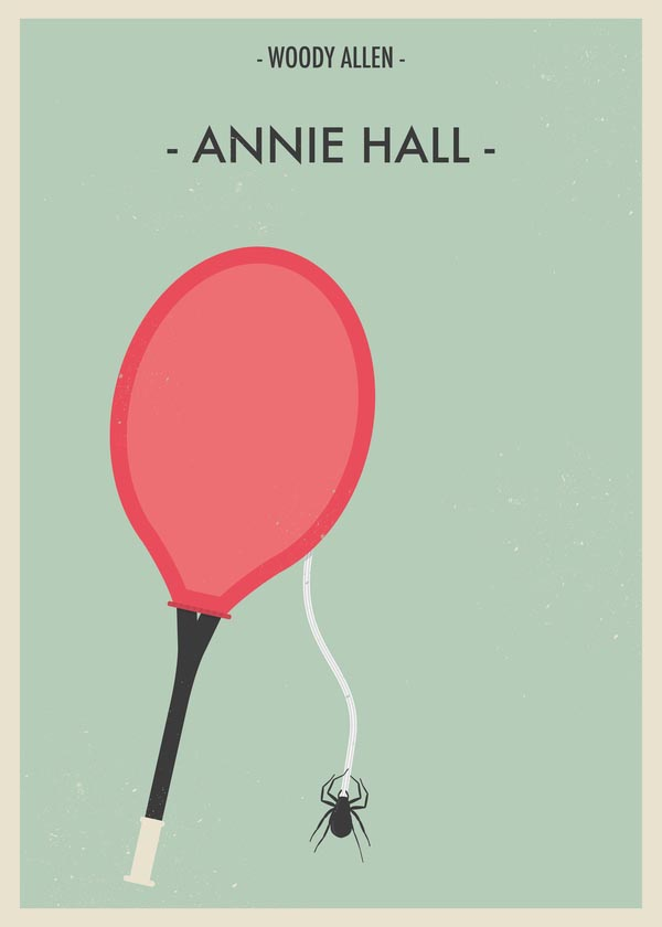Annie Hall - Woody Allen Movie Posters by Giulio Mosca