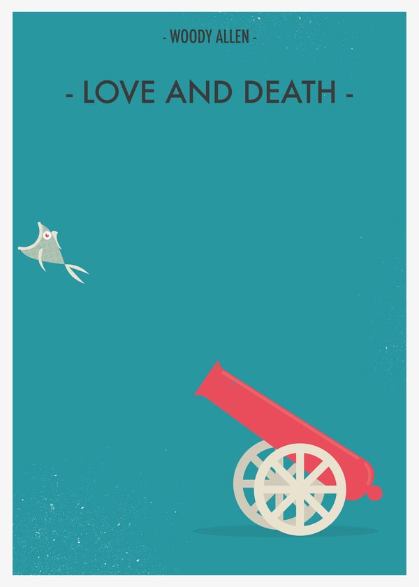 Love and Death - Woody Allen Movie Posters by Giulio Mosca