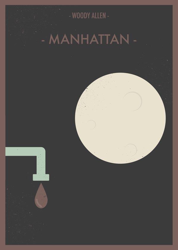Manhattan - Woody Allen Movie Poster by Giulio Mosca