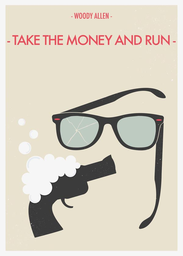 The Money And Run - Woody Allen Movie Poster by Giulio Mosca