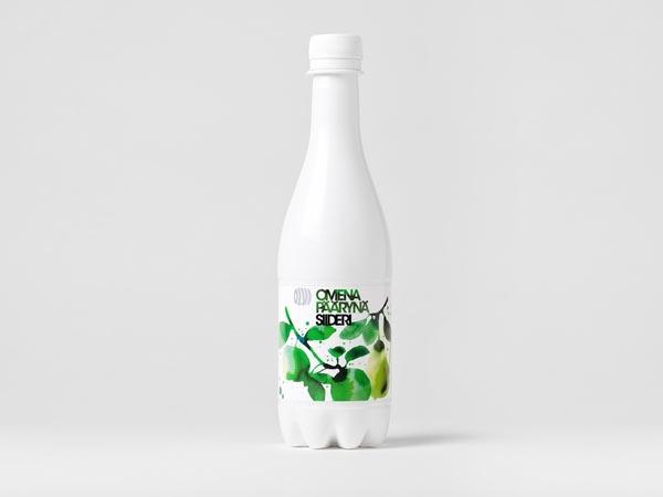 Olvi Cider - White Bottle Package Design by Bond