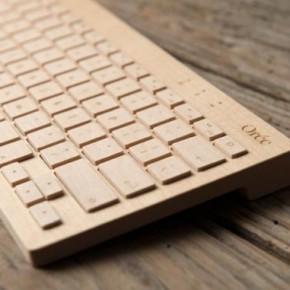 The Orée Board - A Wooden Portable Wireless Keyboard