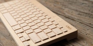 the oreeboard - a bluetooth equipped wooden portable wireless keyboard
