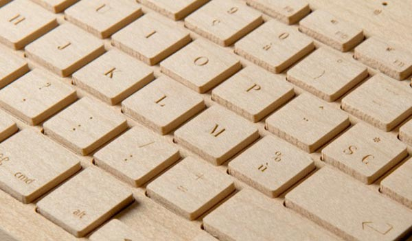 the Orée Board - a wooden portable wireless keyboard