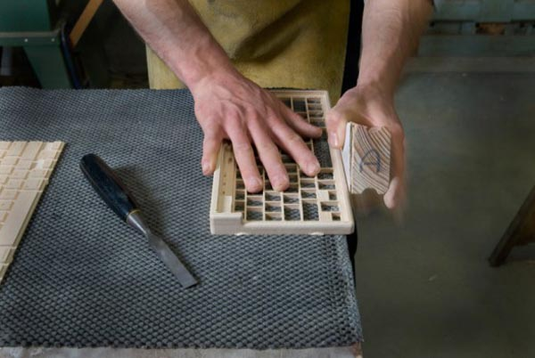 production of the Orée Board - a wooden portable wireless keyboard