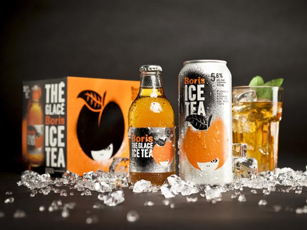Boris Ice Tea Packaging Design by lg2 boutique