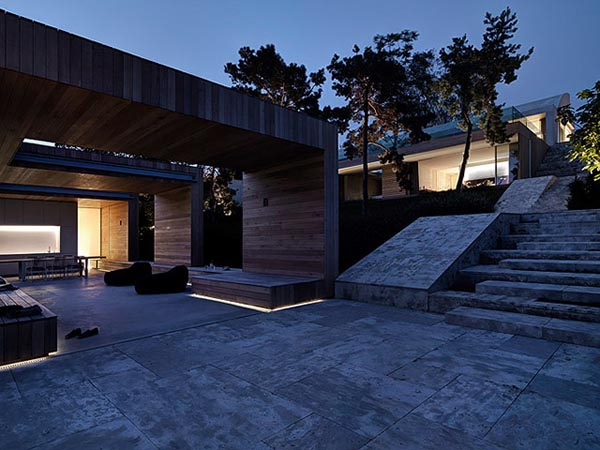 The circulations in and out of that space are controlled by concrete ...