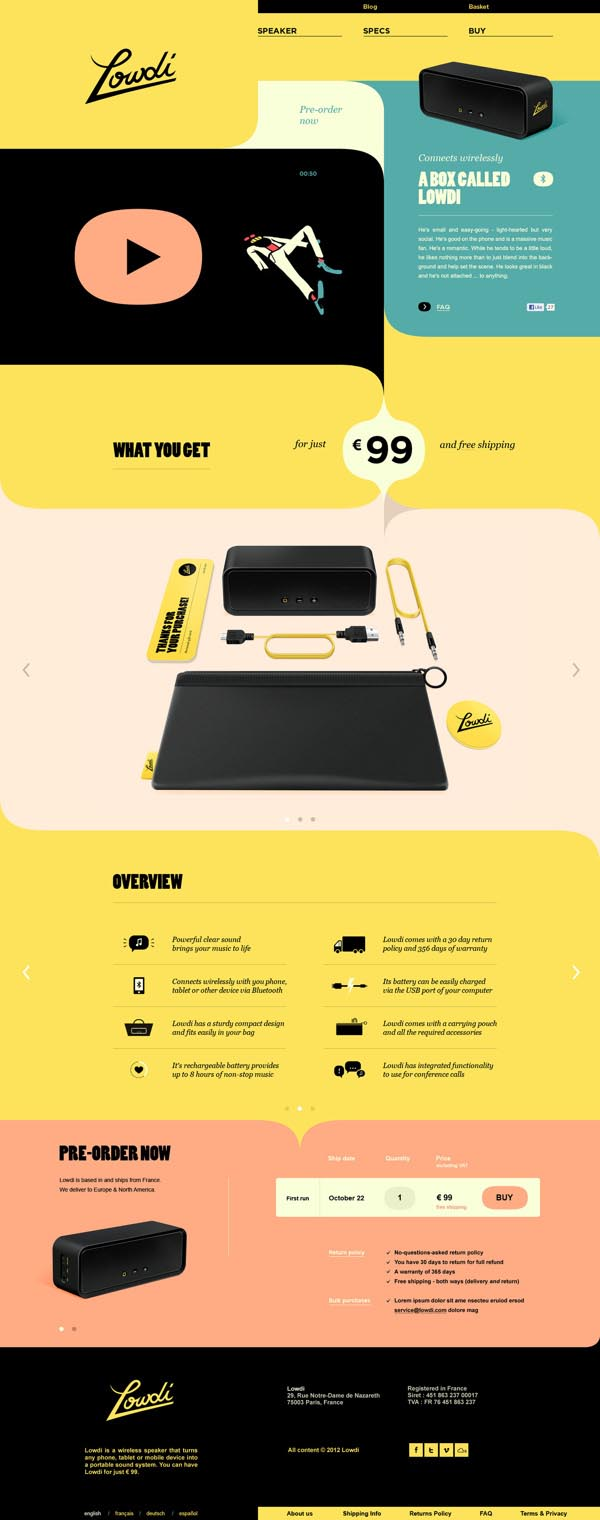A Box Called Lowdi - Web Design by Momkai