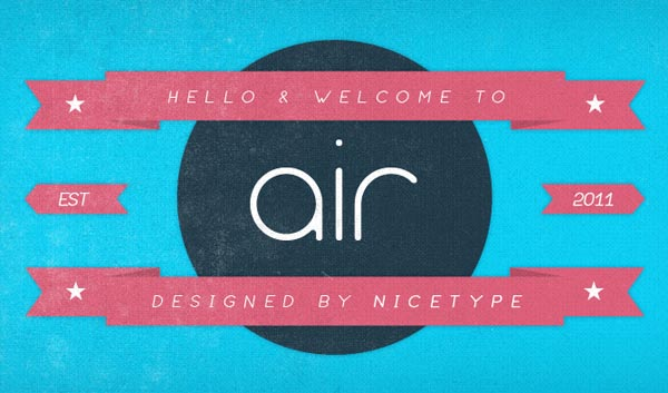 Air Typeface - A Sans Serif Font by Nice Type
