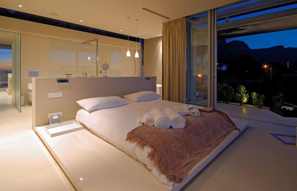 Bedroom of a Luxury Home at Lions Head, Camps Bay, South Africa by SAOTA