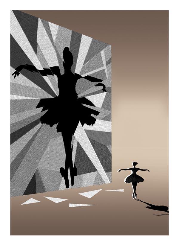 Black Swan Movie Poster Illustration by Adam Simpson