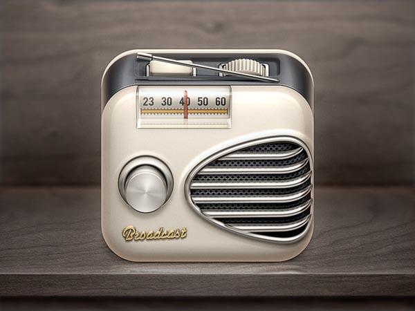 Broadcast Radio iOS Icon Design by Román Jusdado