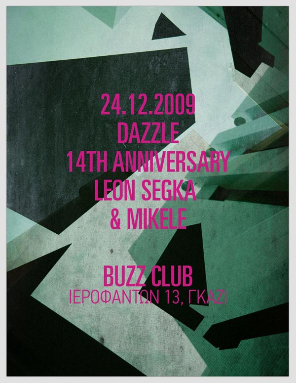DAZZLE Party Poster by Hellopanos