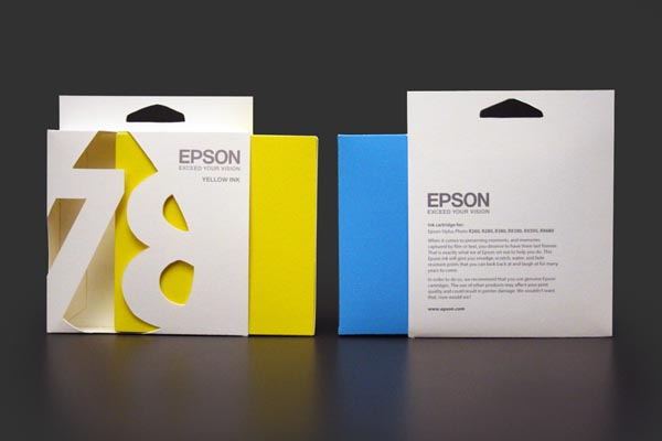 Epson ink cartridge Packaging Concept by Ali Prater