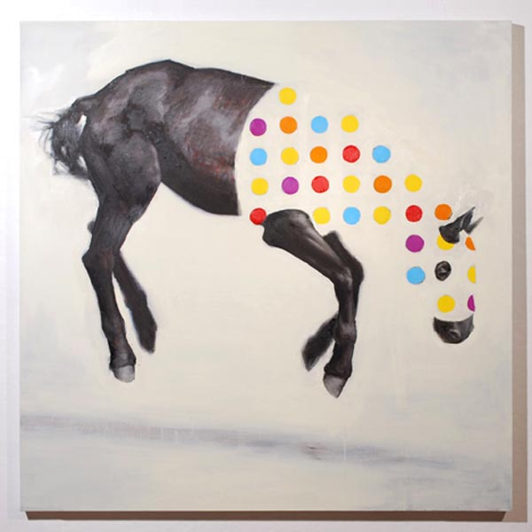 Equine Variation No. 1 - Oil on Canvas by Russ Noto