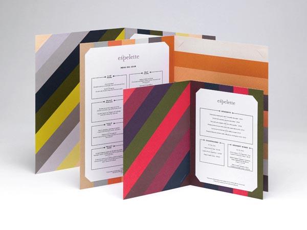 Espelette Menu - Graphic Design by Construct