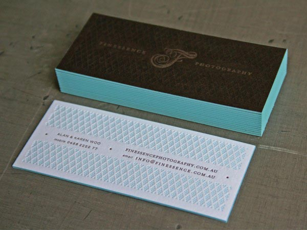 Finessence photography letterpress identity by studio on fire finessence photography letterpress business cards by beast pieces reheart Choice Image