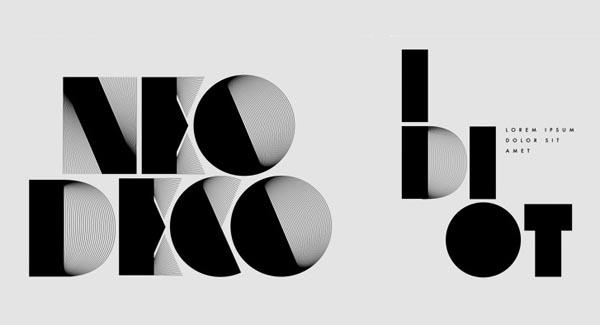 Neo deco graphic typeface by alex trochut for Neo art deco interior design