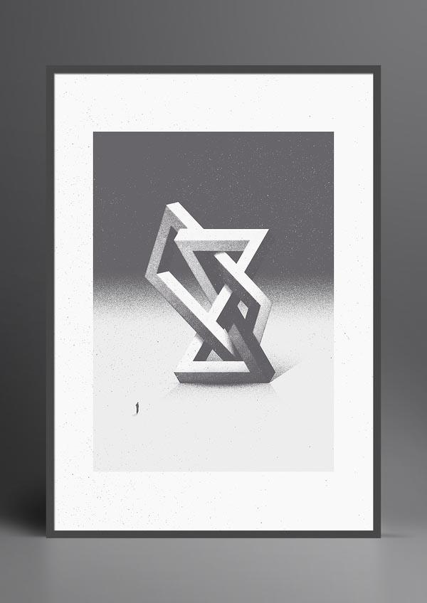 Surreal Geometric Fine Art Print by Marius Roosendaal