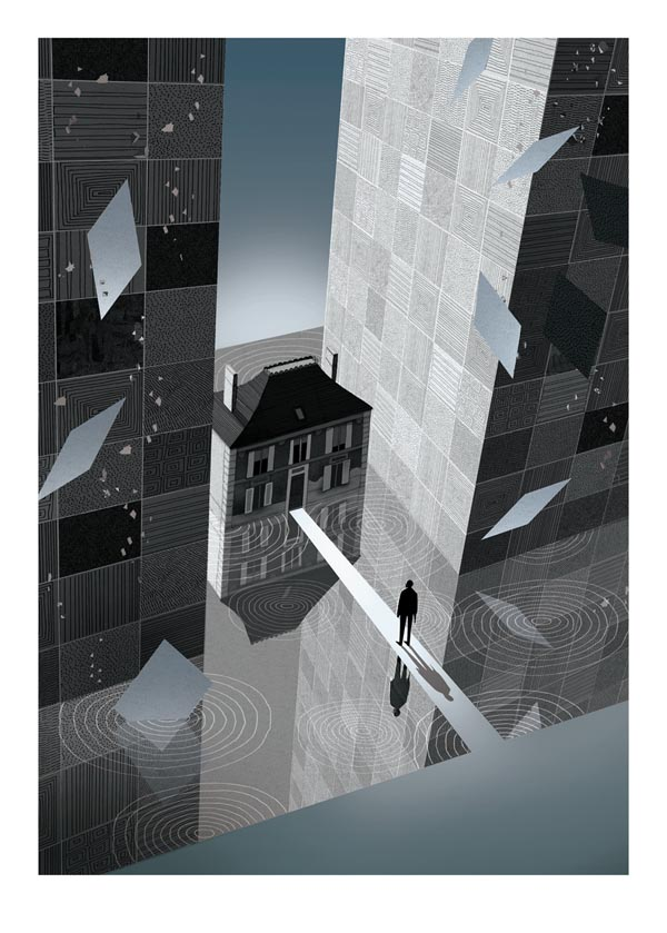 Inception Movie Poster Illustration by Adam Simpson