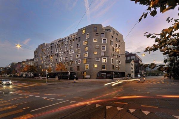 K i s s apartment building in zurich switzerland for Architecture zurich