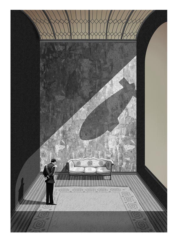 Kings Speech Print Illustration by Adam Simpson
