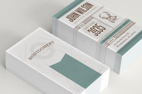 Montgomery Business Cards Design by John Wilson