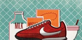 Nike Running Illustration by Matt Stevens for the Sole DXB in Dubai