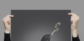 Noise Crow - Digital Illustrated Art Print by Willian Santiago