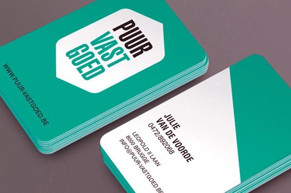 Puur Vastgoed Business Card Design by Tim Bisschop