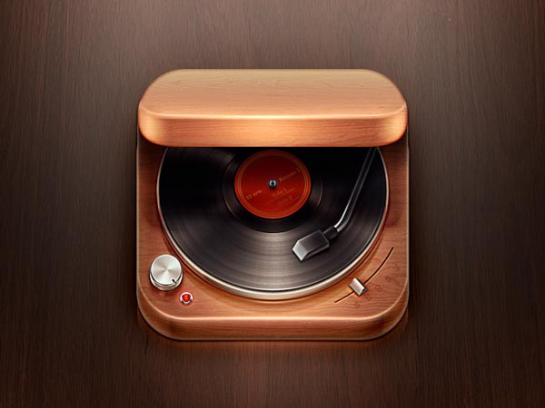 Record Player iOS Icon Design by Román Jusdado