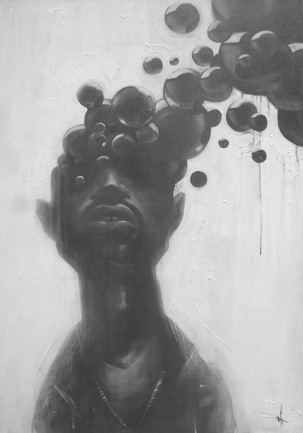 Sit – Haiiro Experimental Illustration