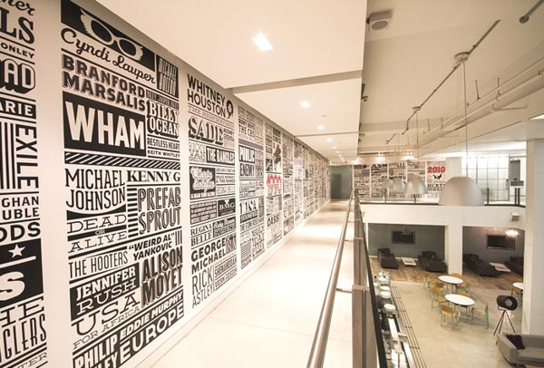 Sony Music Timeline - Wall Design in Sony's Derry Street Headquarter