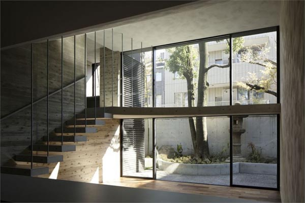 Staircase inside the Breeze House by Artechnic