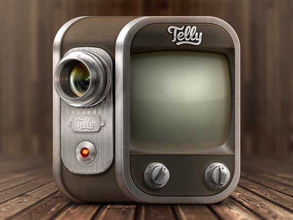 Telly - Retro TV Camera Icon Design for Android and iPhone by Román Jusdado