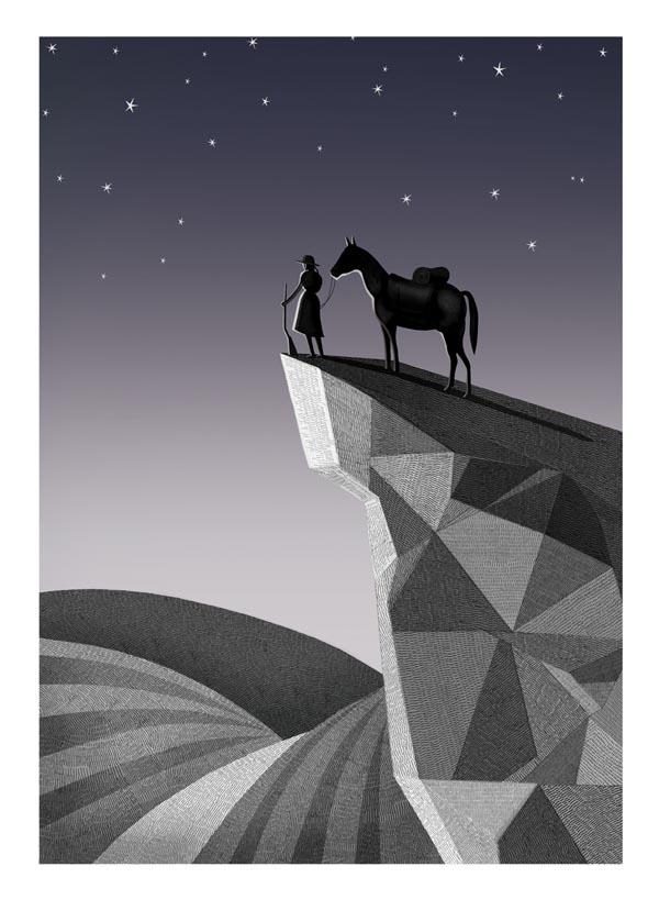 True Grit Print - Illustration by Adam Simpson