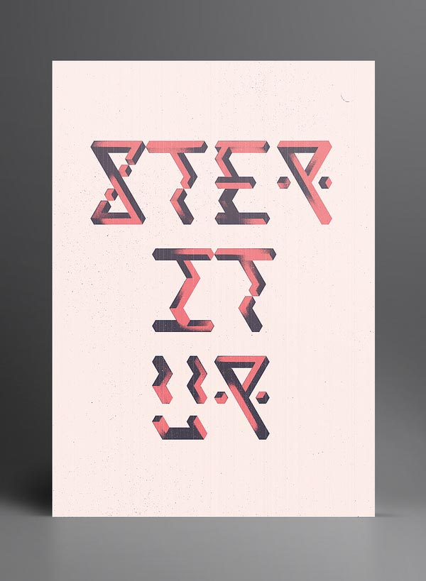 Typographic Artwork of 2012 by Marius Roosendaal