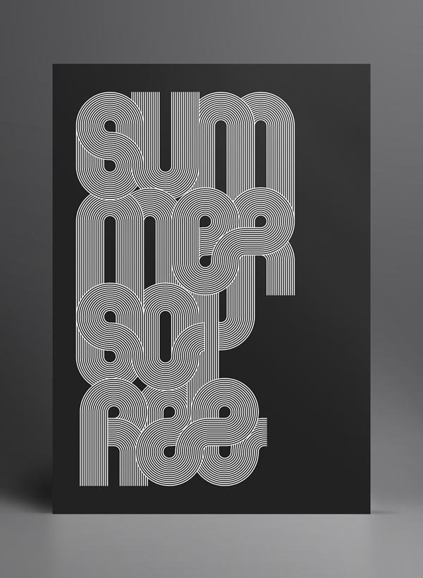 Typography Print Design by Marius Roosendaal