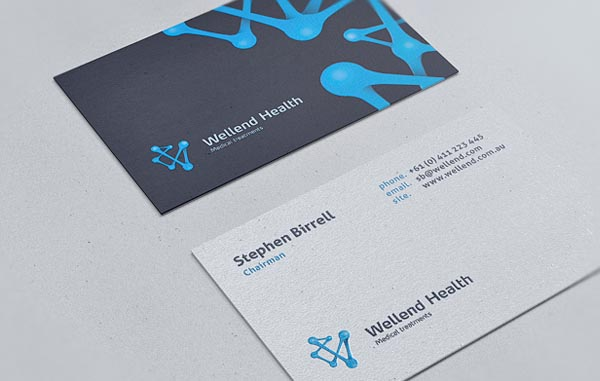Wellend Health Business Cards designed by Vision Trust