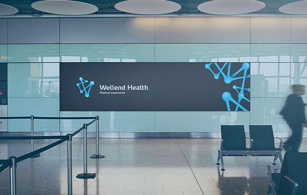 Wellend Health Identity - Banner Design by Vision Trust