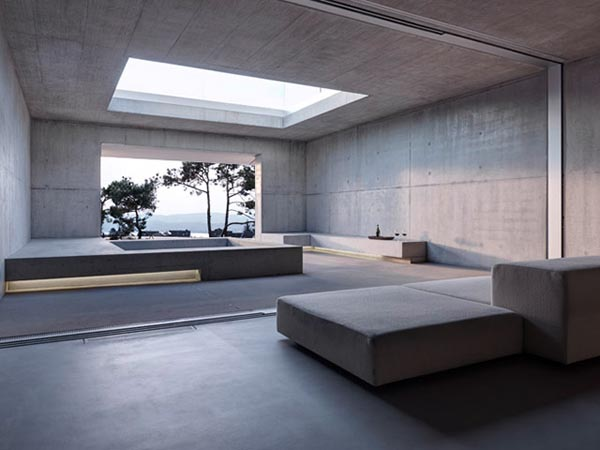 Open Space with Concrete Walls Inside the House