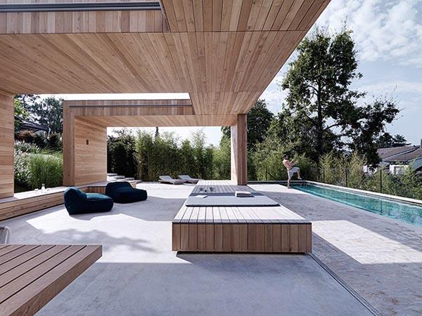 Pool Area of the 2Verandas House