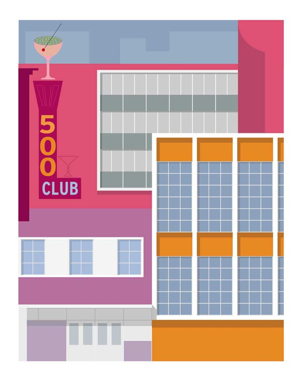 500 Club - Forgotten Modernism of San Francisco's Architecture by Michael Murphy