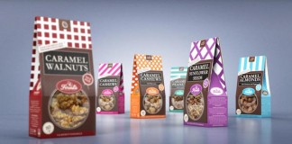 All 6 flavors - Sugar nuts Package Design by Studio43