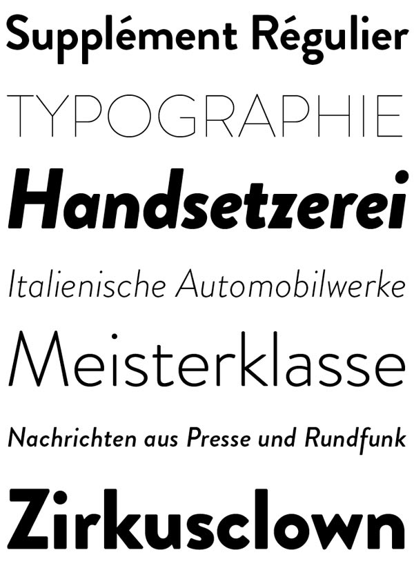 The Brandon Grotesque typefaces from HVD Fonts is a modern font family that includes six weights plus matching Italics.